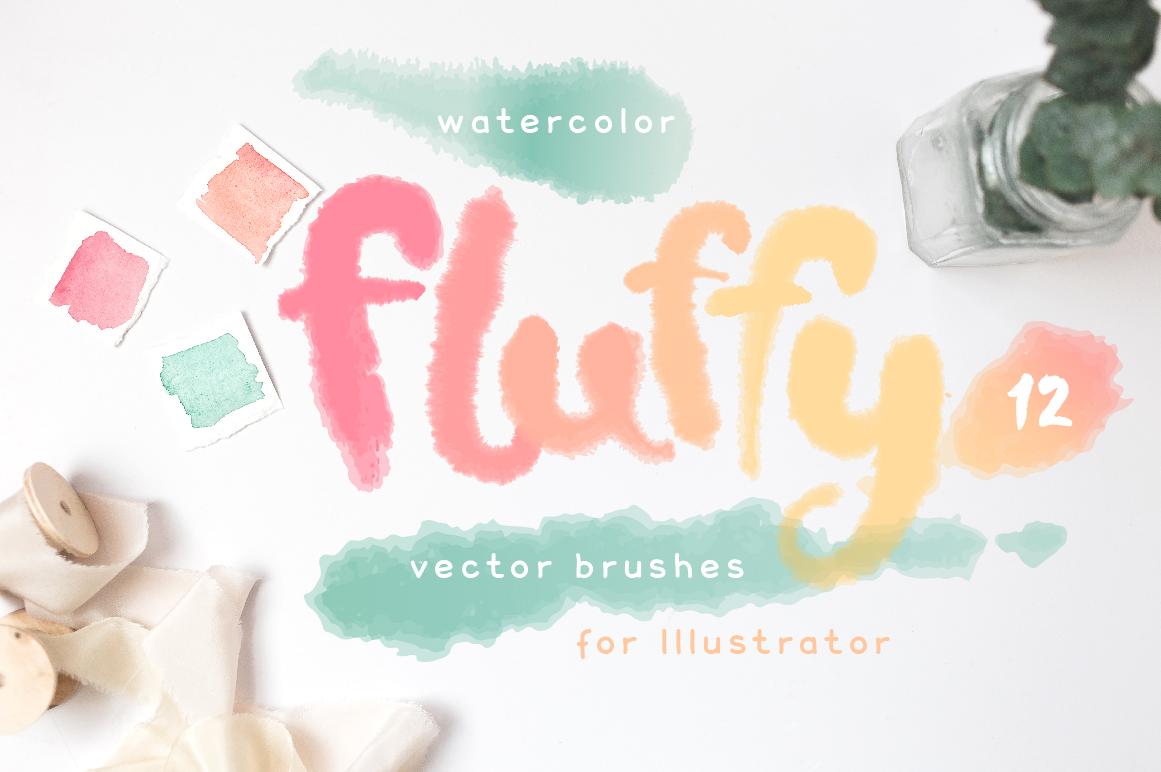 Fluffy Brushes for Illustrator example image 1