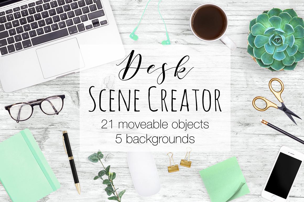 Desk Scene Creator - Top View example image 1