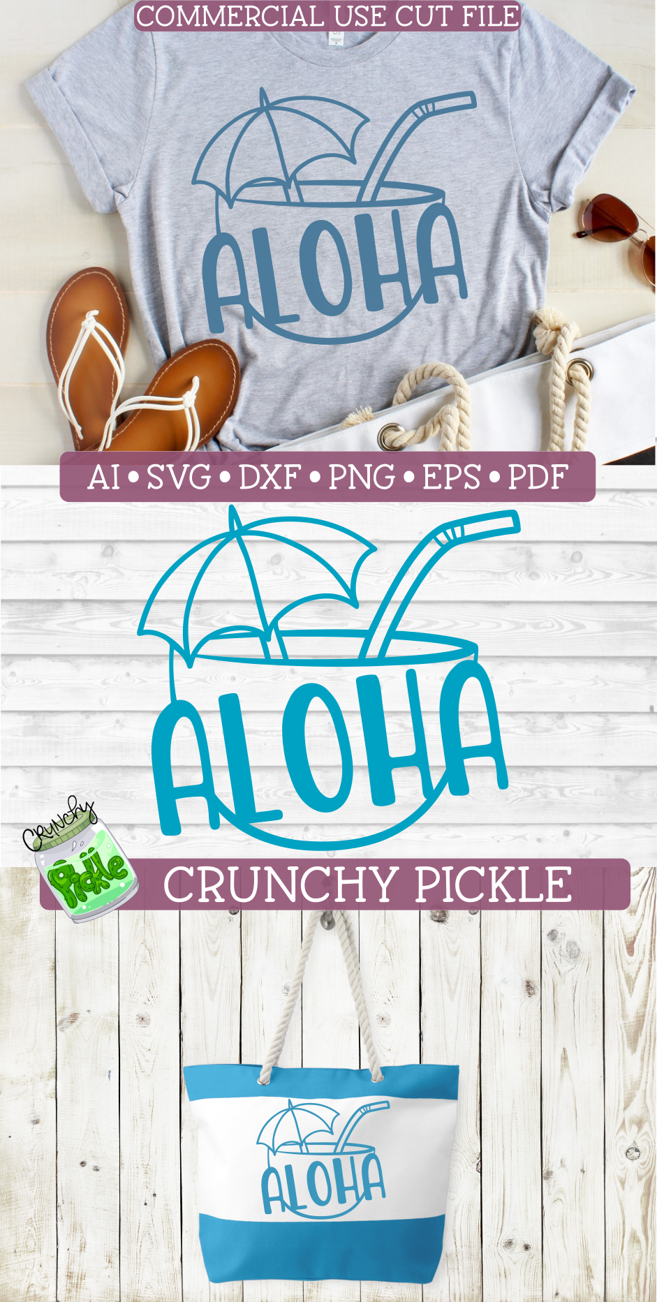 Aloha Coconut Drink Summer Beach SVG Cut File example image 6