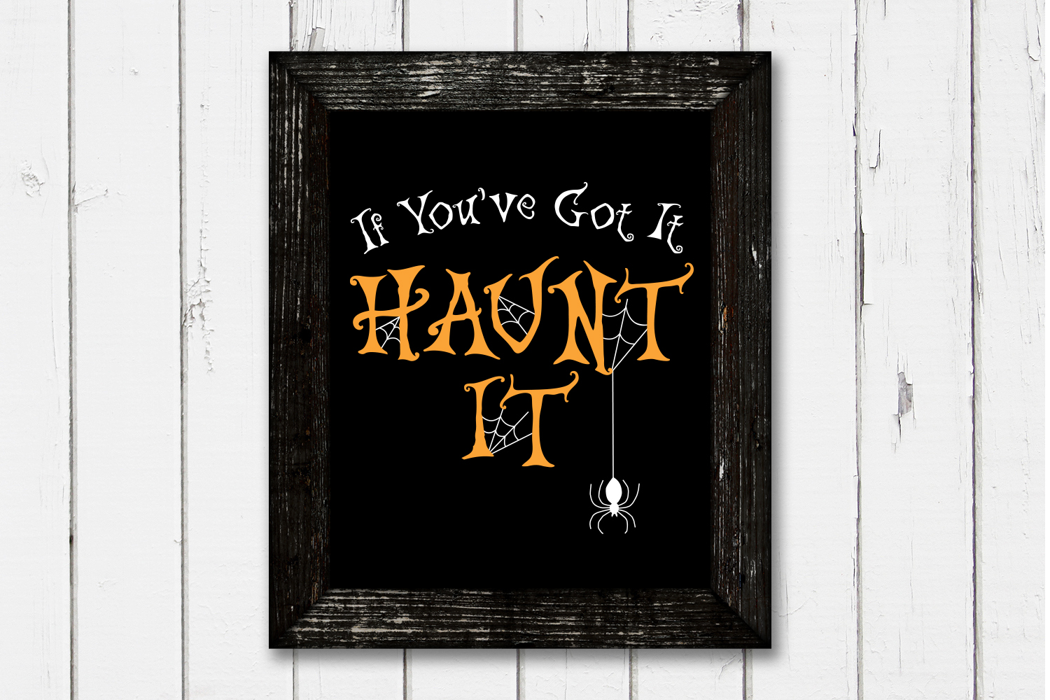 Halloween SVG, If You've Got It Haunt It, SVG Cut file example image 2