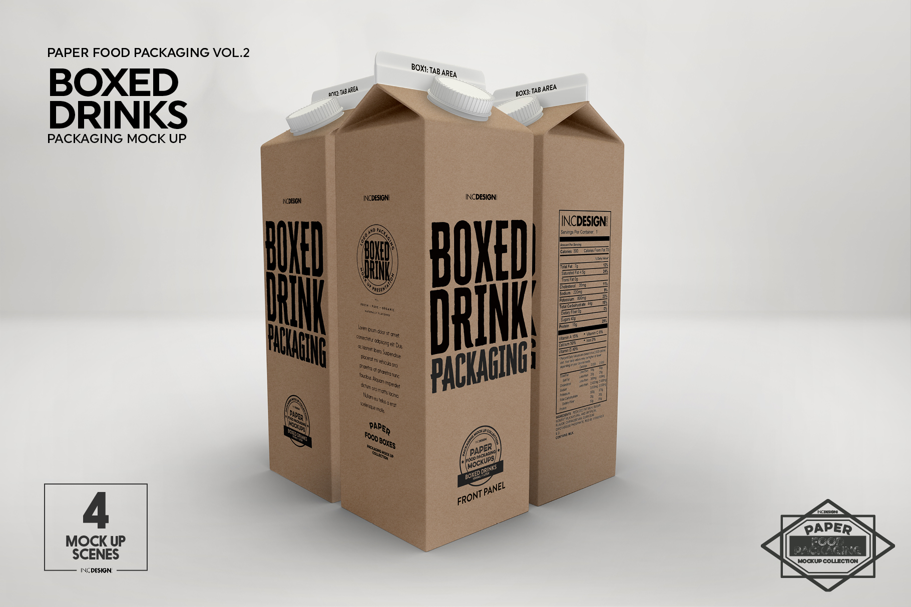 Boxed Drink Liquid Packaging Mockups example image 2