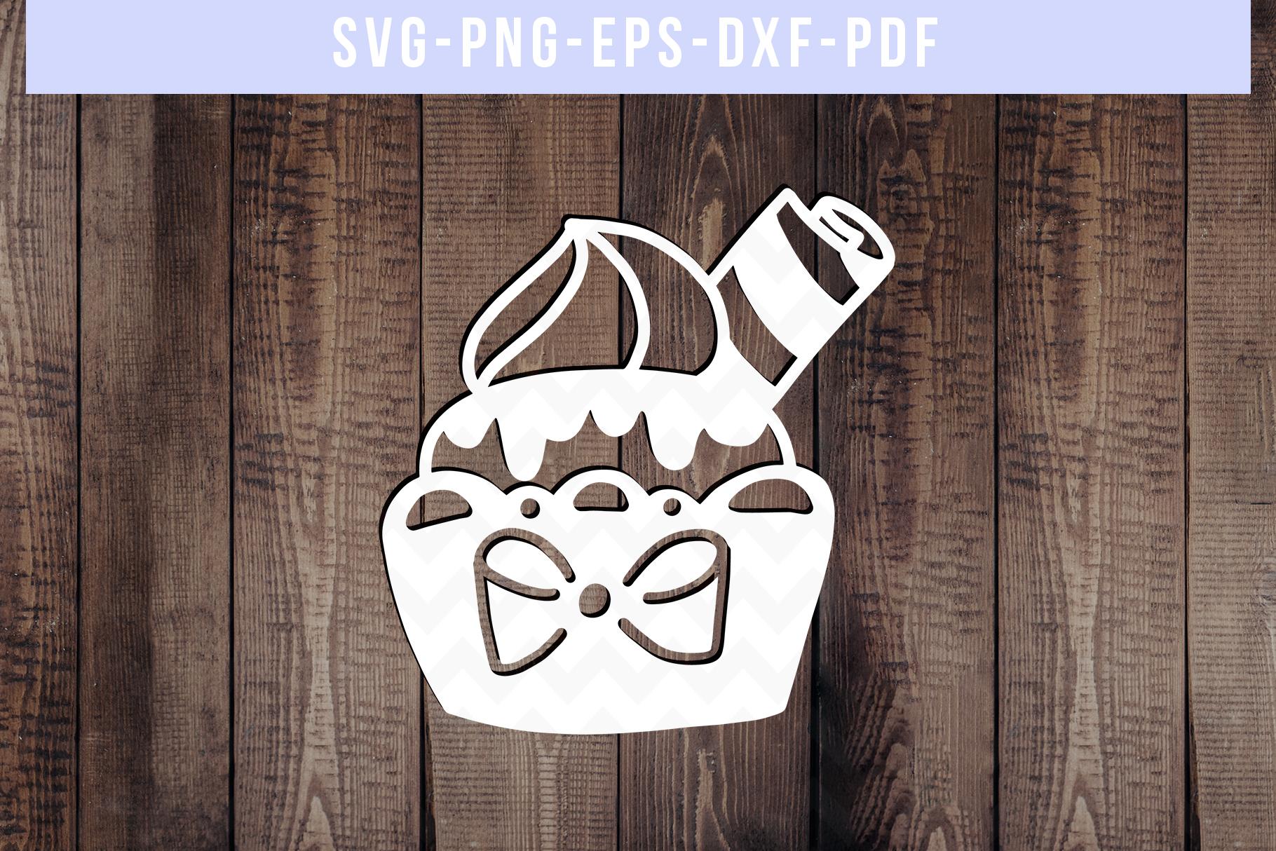 Bundle Of 9 Cupcake Papercut Templates, SVG Cutting File PDF example image 3