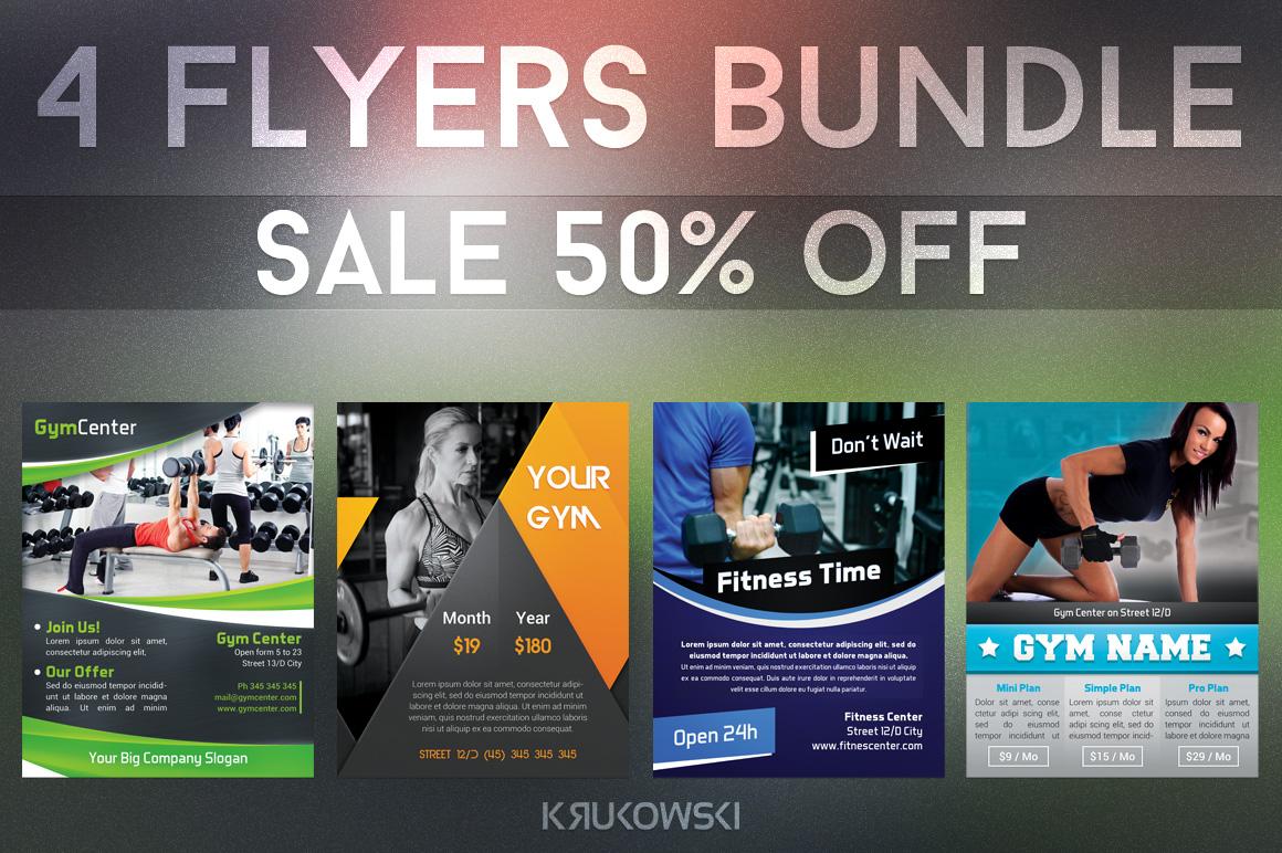 Gym Fitness Flyers Bundle example image 1