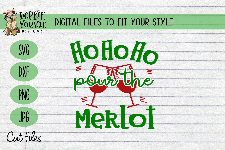 BUNDLE Joy to the wine, Merlot Christmas, WIne Xmas - SVG example image 6