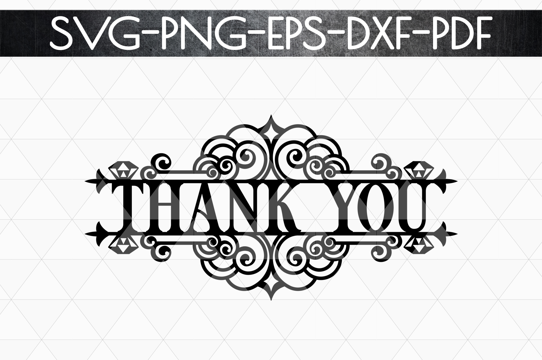 Thank You 5 Papercut Template, Appreciation Sign SVG, PDF example image 4