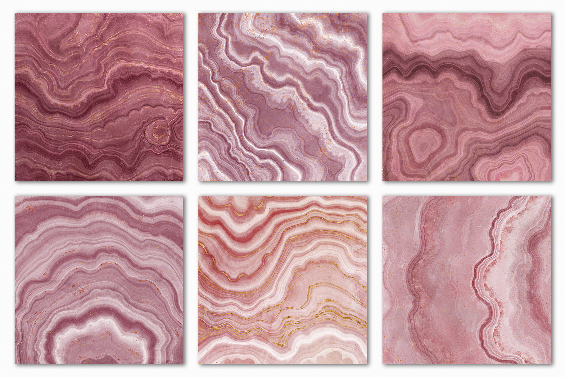 Pink Agate Illustrations, Textures & Patterns example image 8