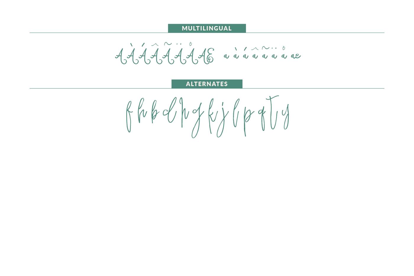 Sparkling Script Font example image 4