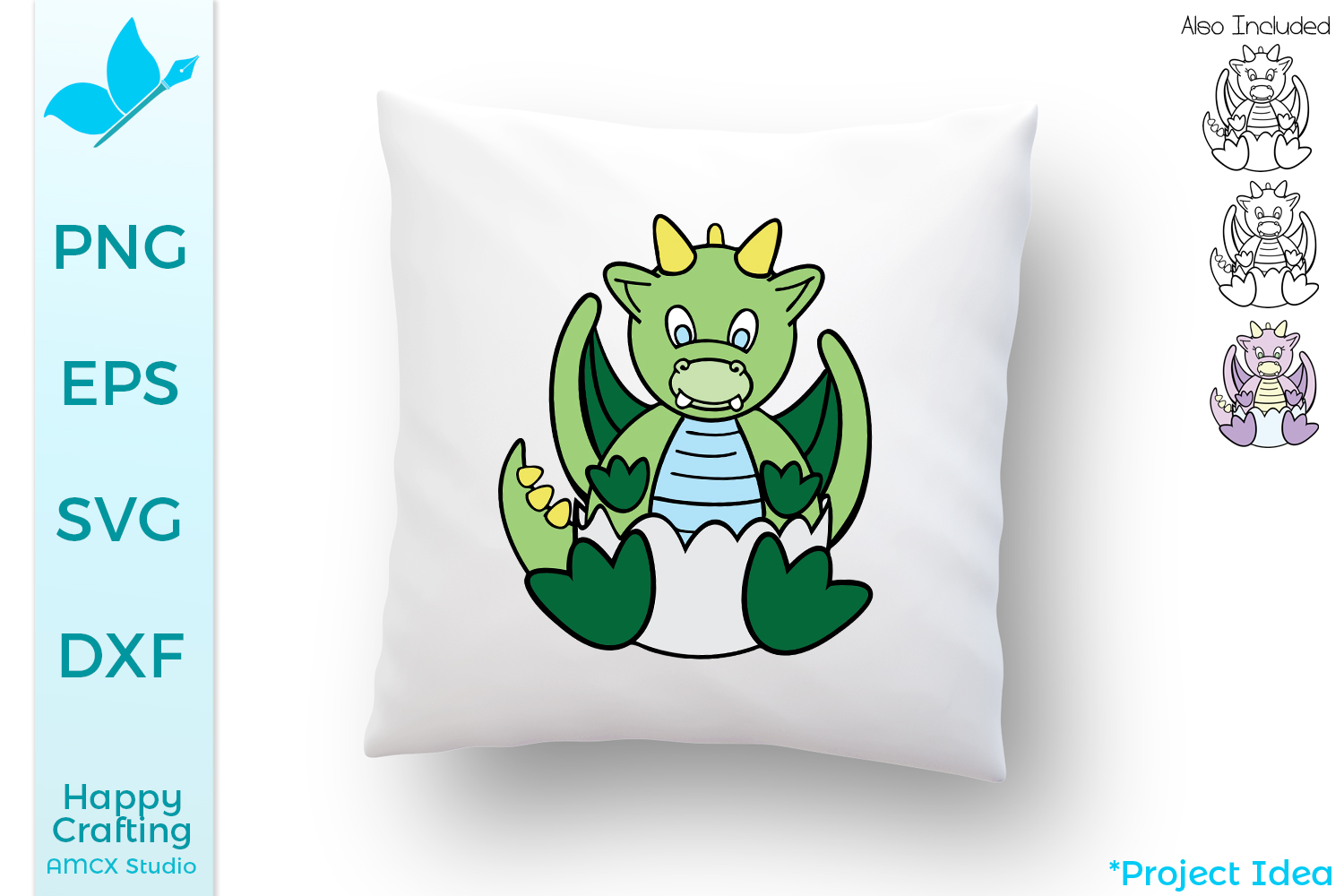 Baby Dragons SVG Files - An adorable baby craft file example image 1