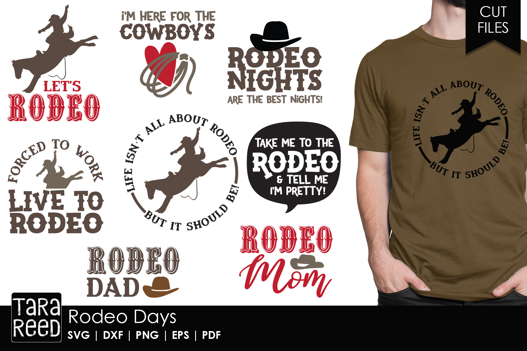 Rodeo Days - Rodeo SVG and Cut Files for Crafters example image 1