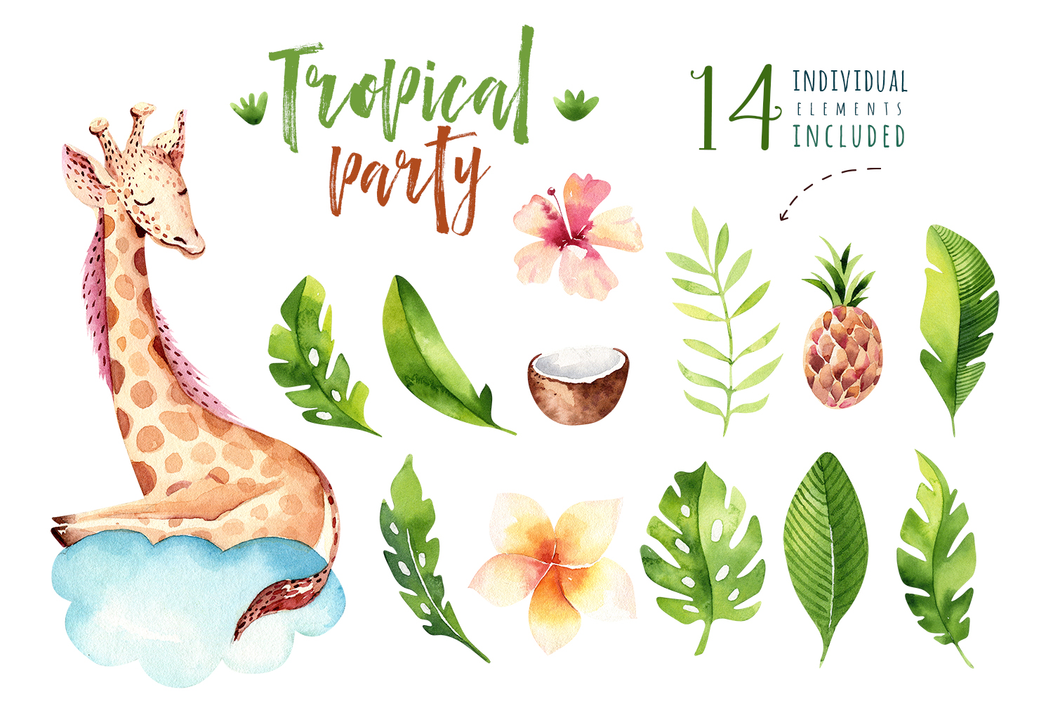 Giraffe collection. Tropical party example image 3