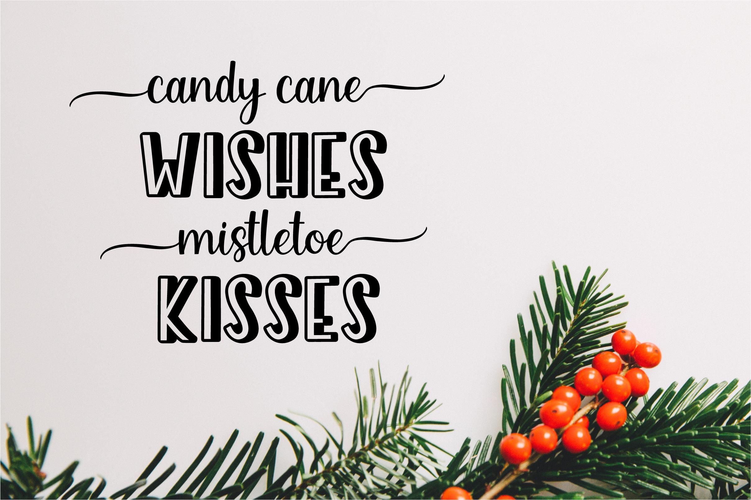 Holiday Season - a festive shadow christmas font example image 5