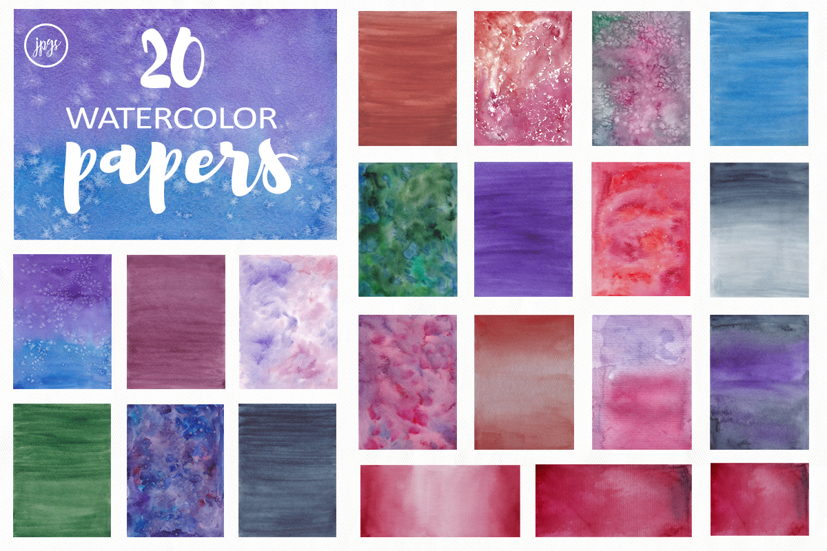 200 watercolor textures and backgrounds. Superbundle! example image 4