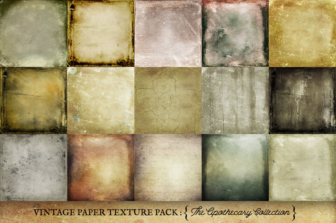 Vintage Paper Textures Apothecary Collection example image 2