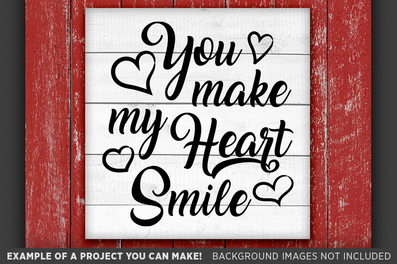 You Make My Heart Smile SVG - Valentines Decor SVG - 1505 example image 3