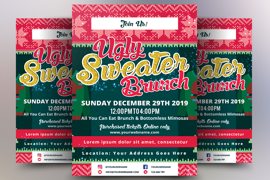 Winter Food Festival Flyer example image 1