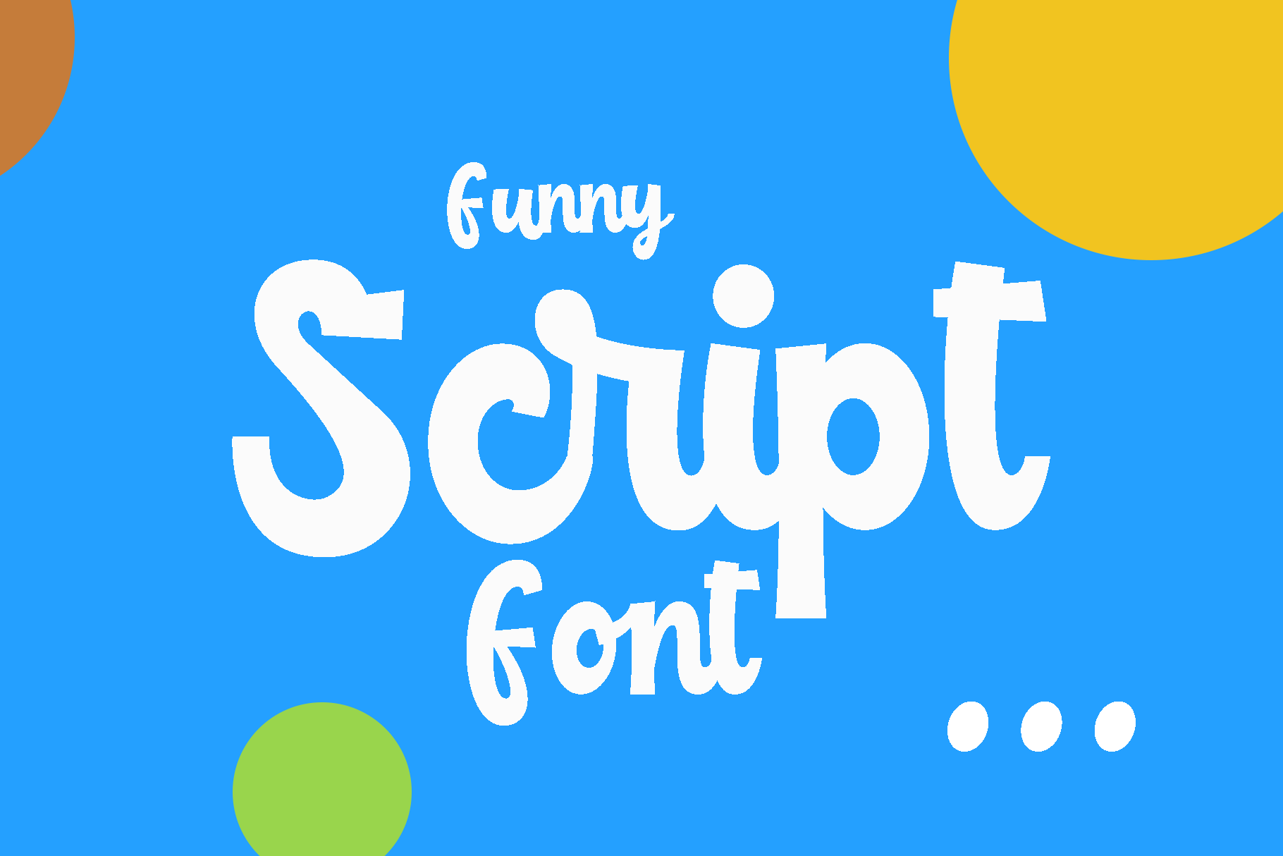Childish -funny script font example image 2