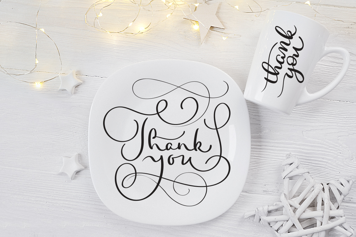 Thank You Calligraphy Lettering Collection example image 7