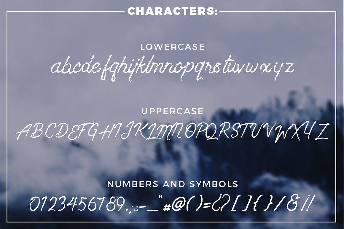 Wanderlust - Dry brush font example image 6