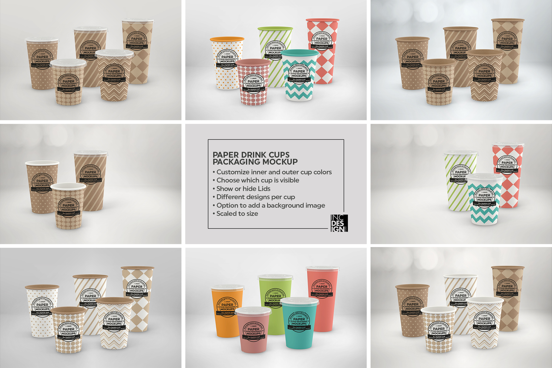 Paper Drink Cups Packaging Mockup example image 6