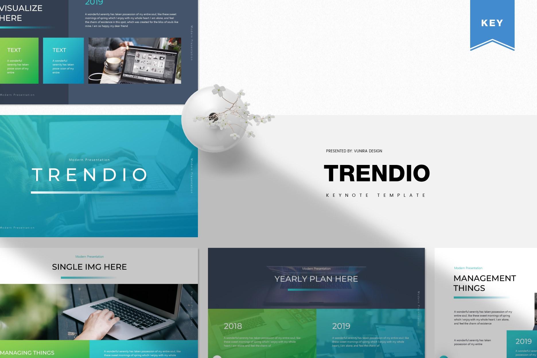 Trendio   Powerpoint, Keynote, GoogleSlides Template example image 3