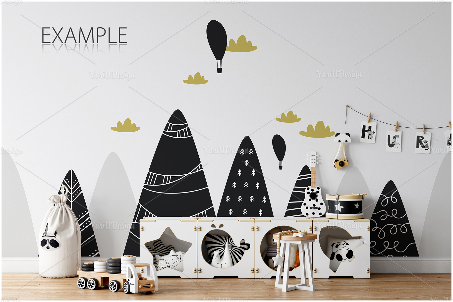 Kids Frames & Wall Mockup Bundle - 5 example image 16