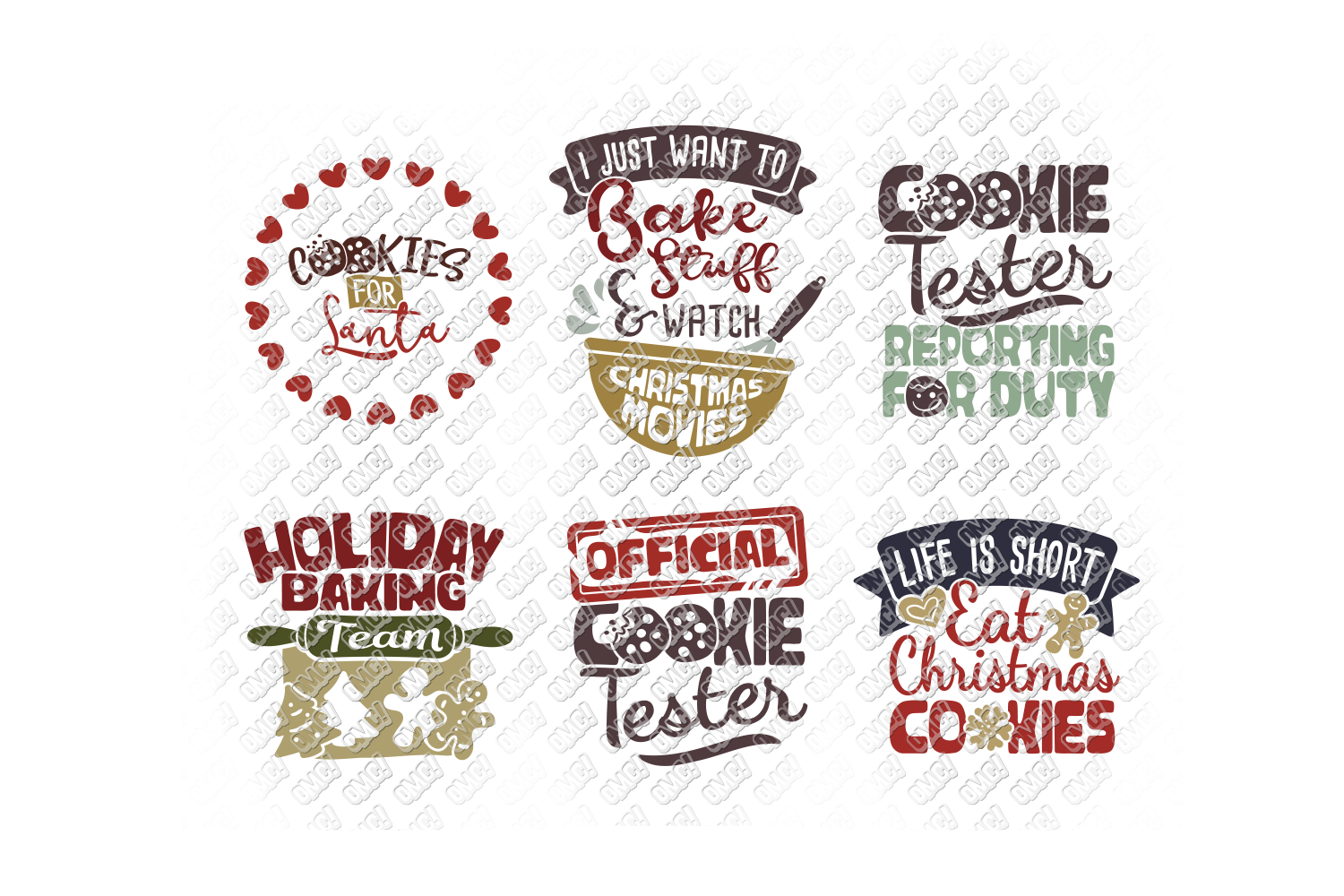 Christmas Cookies SVG Bundle in SVG, DXF, PNG, EPS, JPEG example image 8