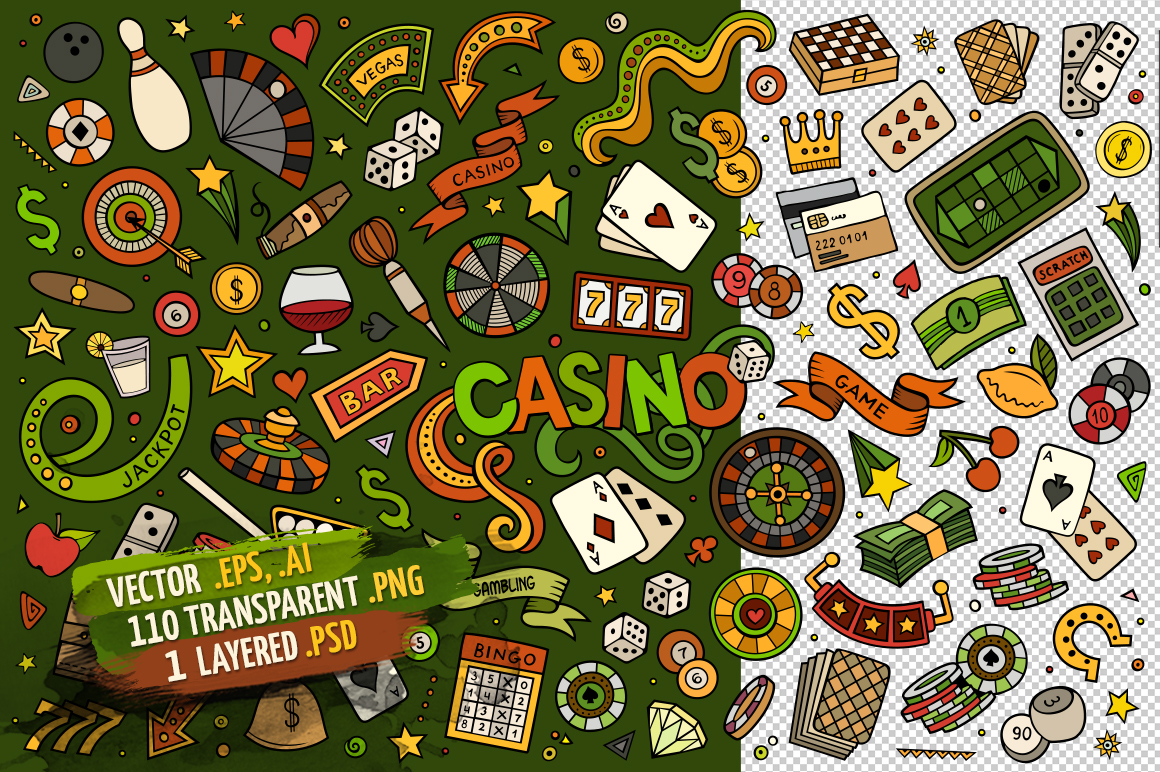 Casino Objects & Symbols Set example image 2