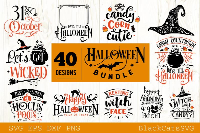 Halloween SVG bundle 40 designs vol 2 example image 4