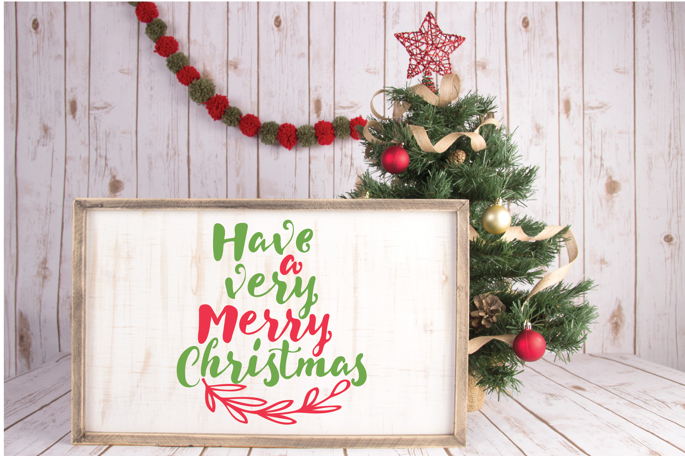 Have a Very Merry Christmas SVG Cut File - Christmas EPS DXF example image 3