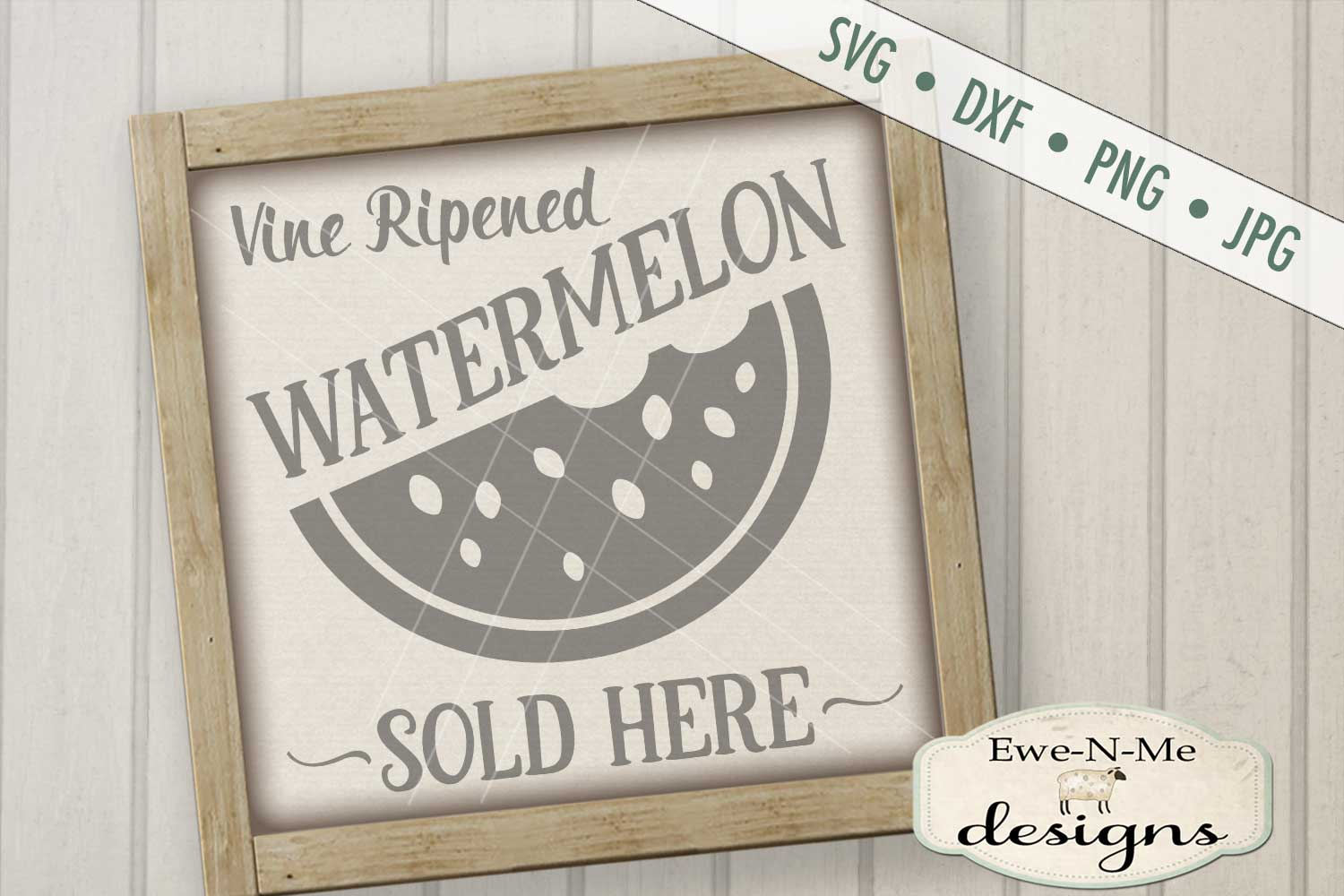 Vine Ripened Watermelon Sold Here SVG DXF Files example image 1