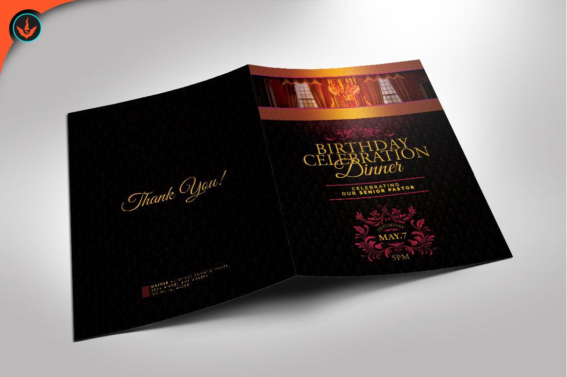 Royal Birthday Celebration Event Program Photoshop Template