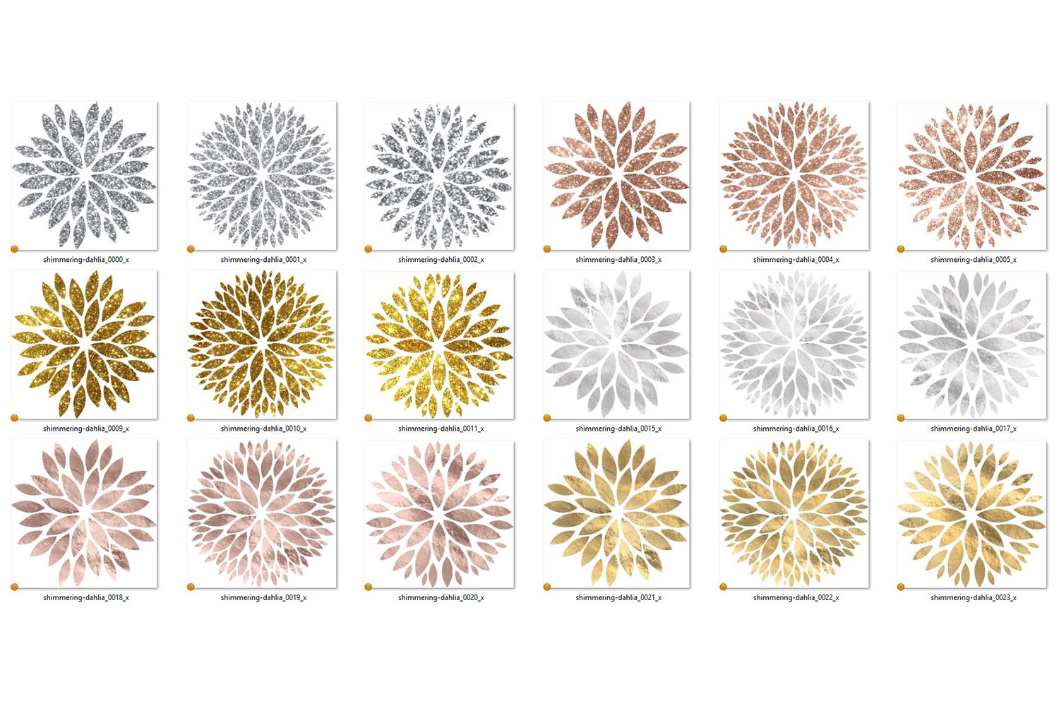Shimmering Dahlia Clipart example image 3