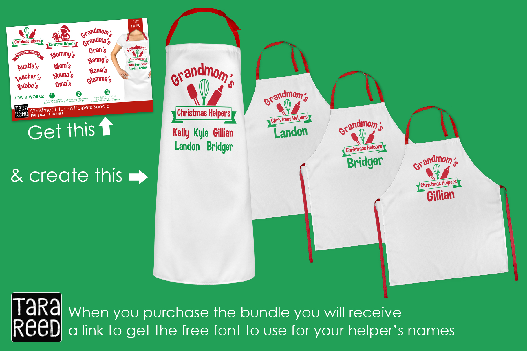 Kids Christmas MEGA Bundle - SVG and Cut Files for Crafters example image 10