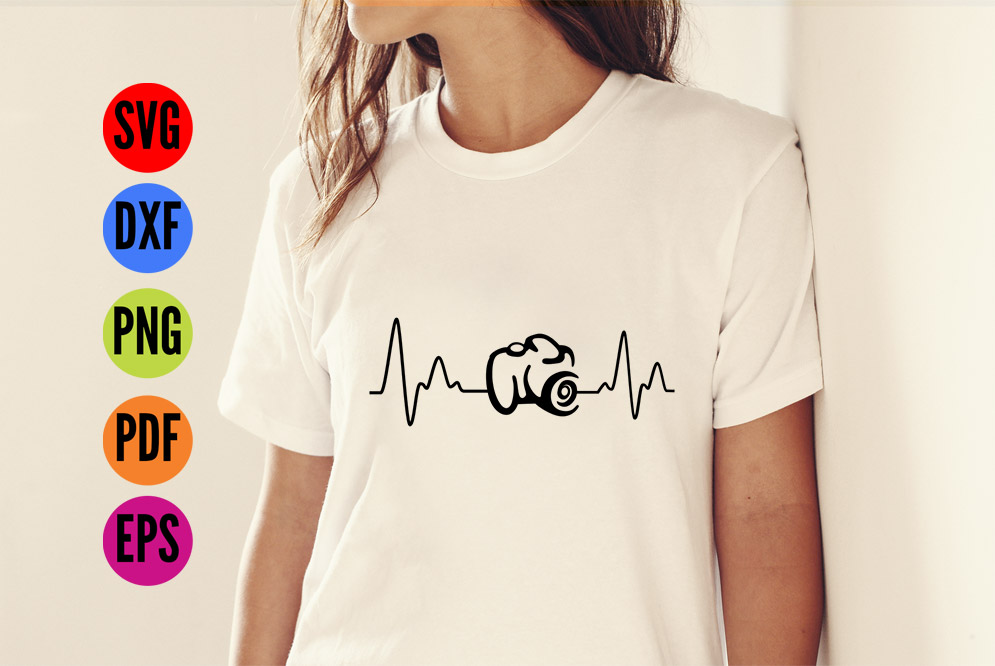 Camera Heartbeat SVG Cutting File  example image 3