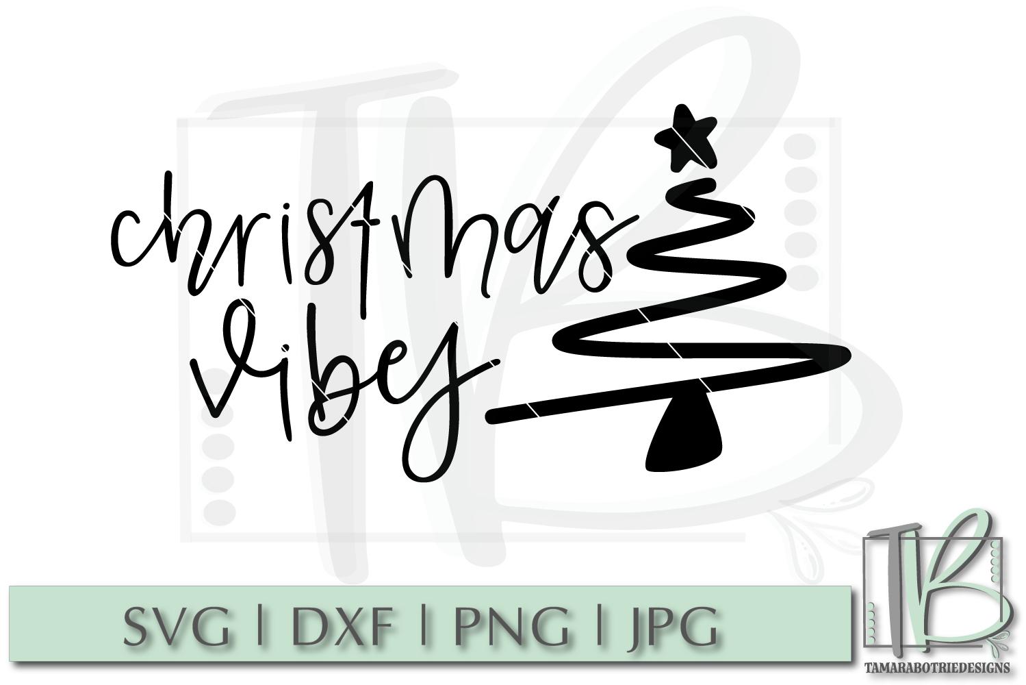 Christmas Vibes SVG, Christmas Cut file example image 2