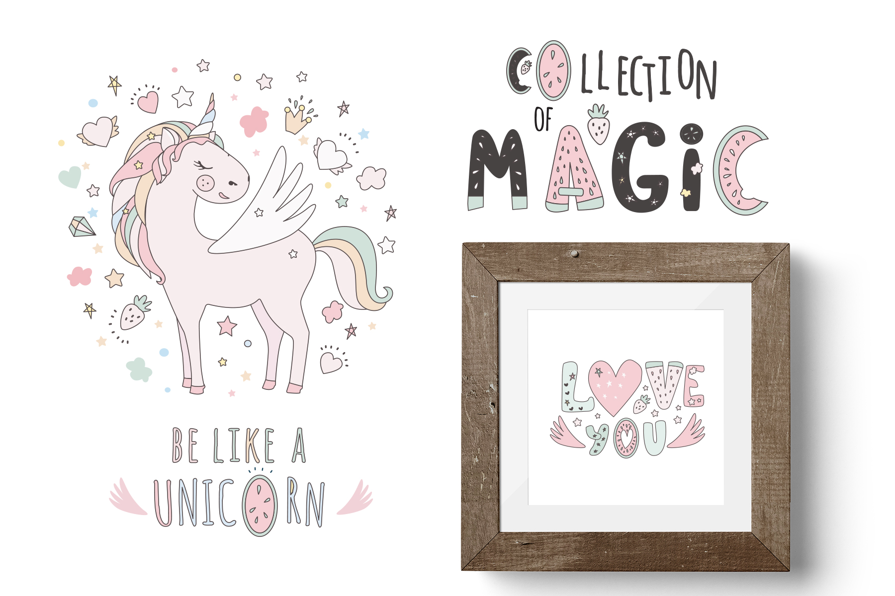 Magical collection of unicorns example image 2