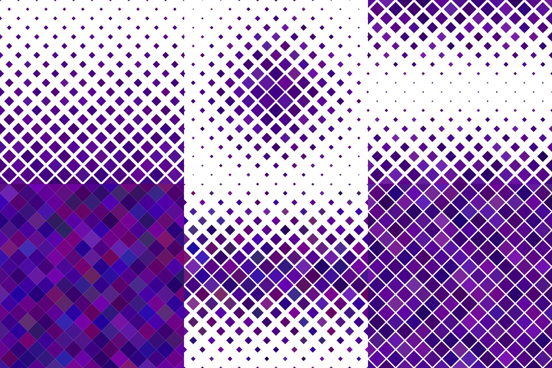 24 Purple Square Patterns AI, EPS, JPG 5000x5000 example image 5