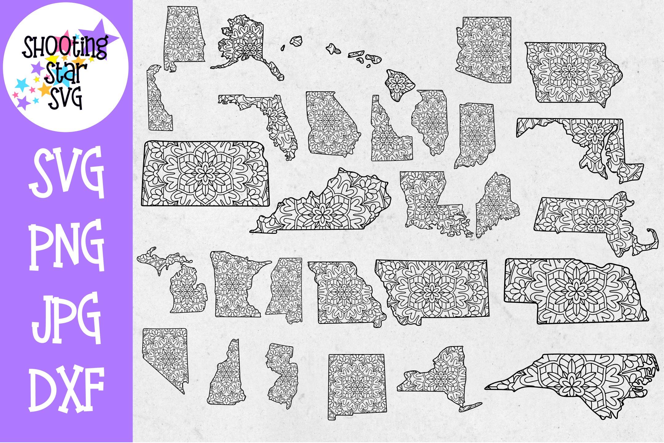 US State MEGA Bundle - 5 US State Bundles - US State SVG example image 4
