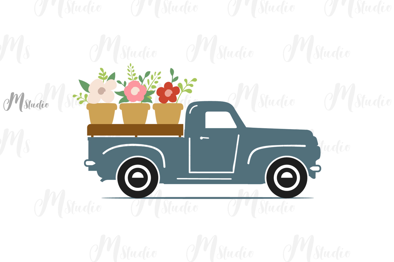 Spring Bundle svg Gnomes bee old truck monogram example image 5