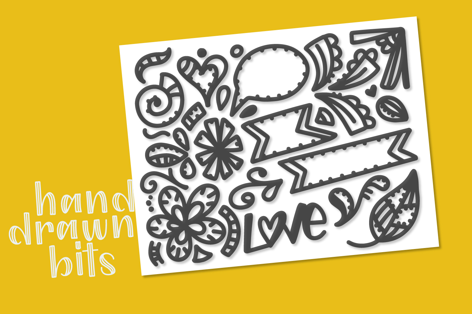 Patchwork - Double Inline With Doodles Font Duo example image 2