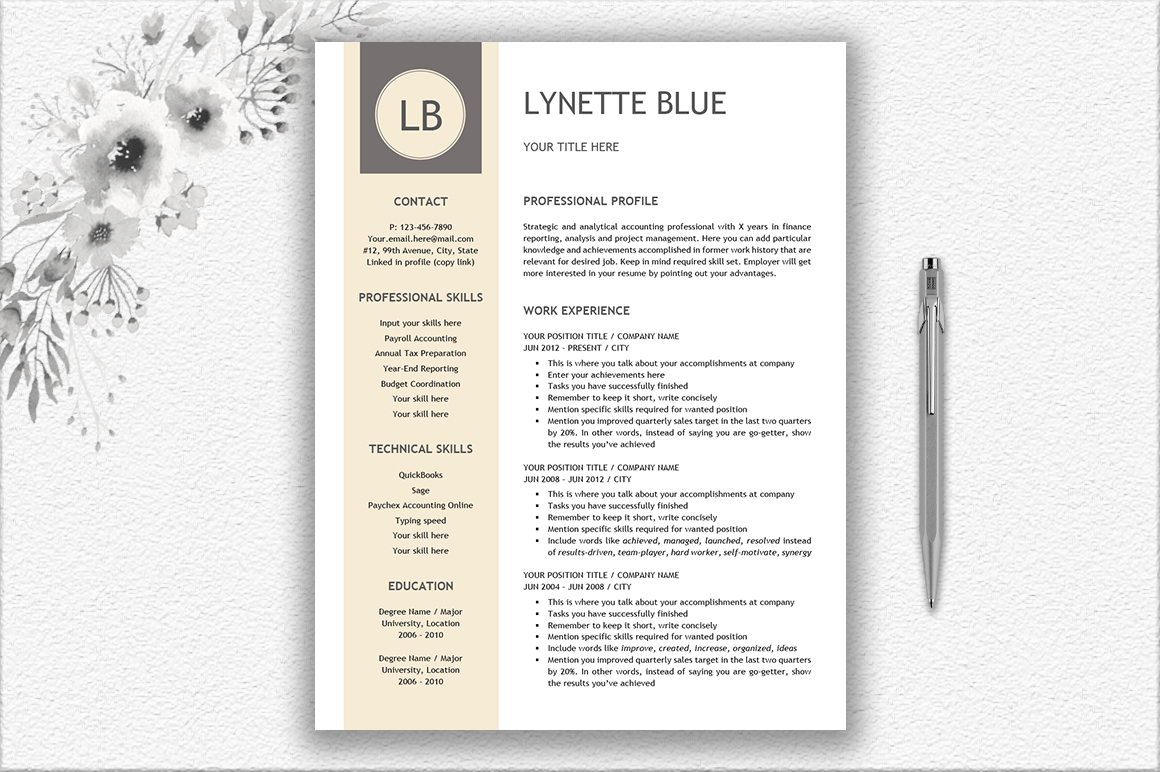 Resume Template Design example image 1
