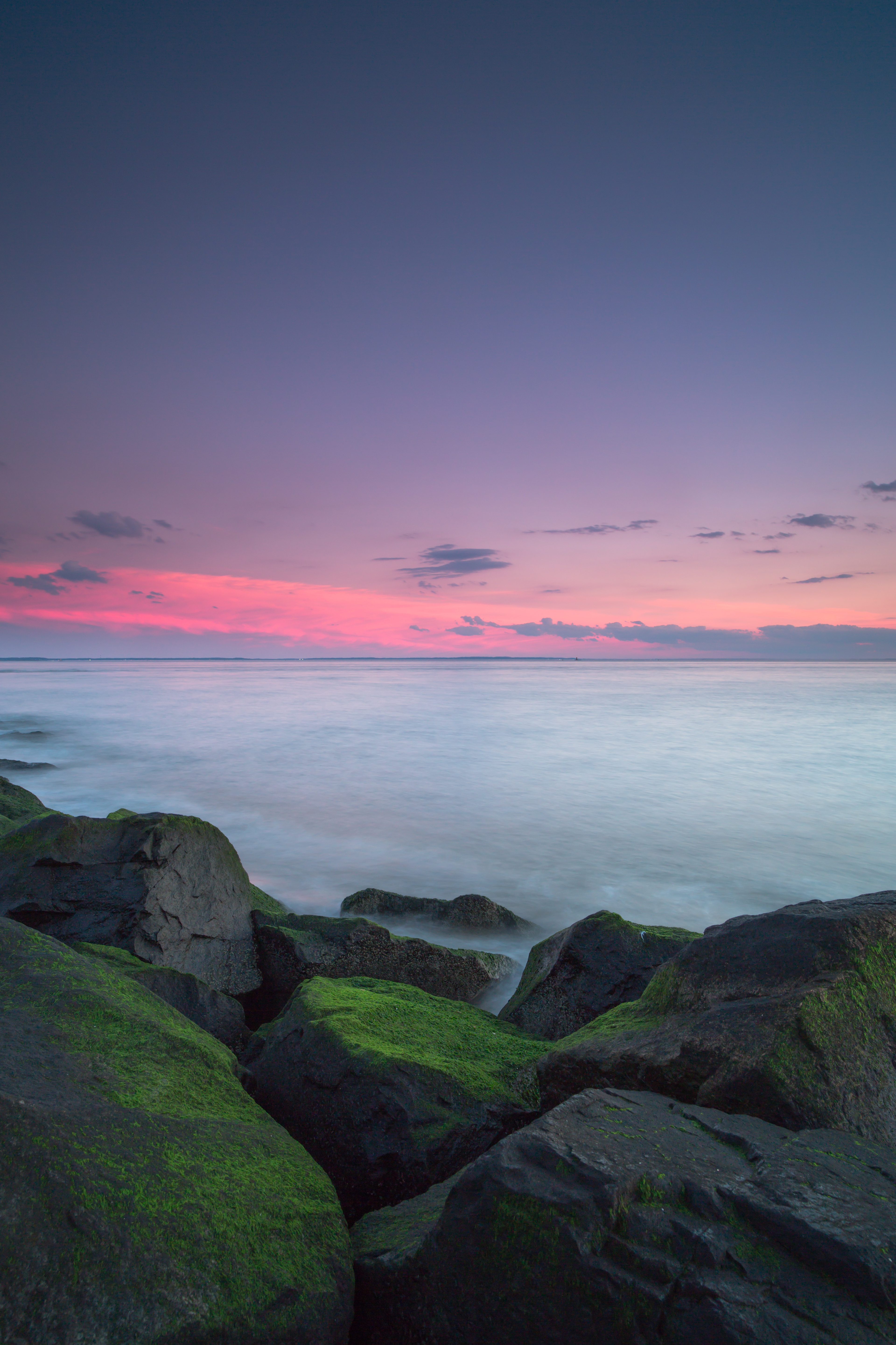 Sunset on a rock moss beach example image 1