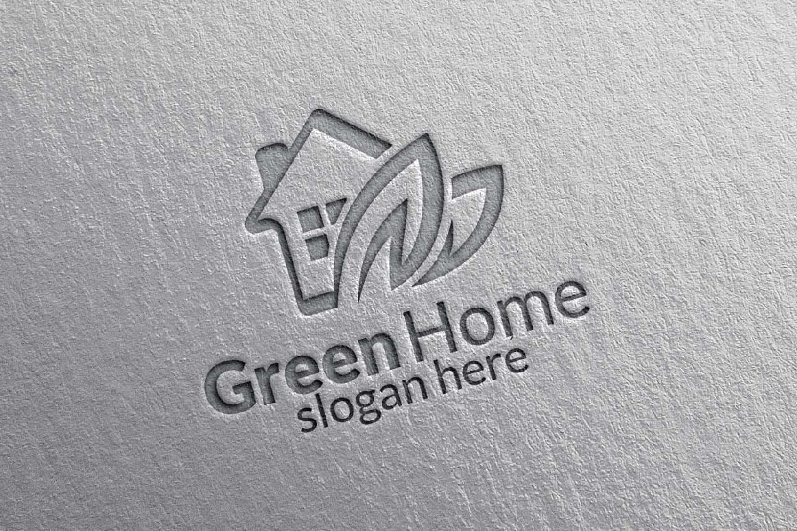 Real estate Logo, Green Home Logo 9 example image 3