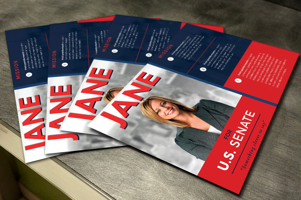 Political Flyer Photoshop, Word, Publisher Template 3 example image 4