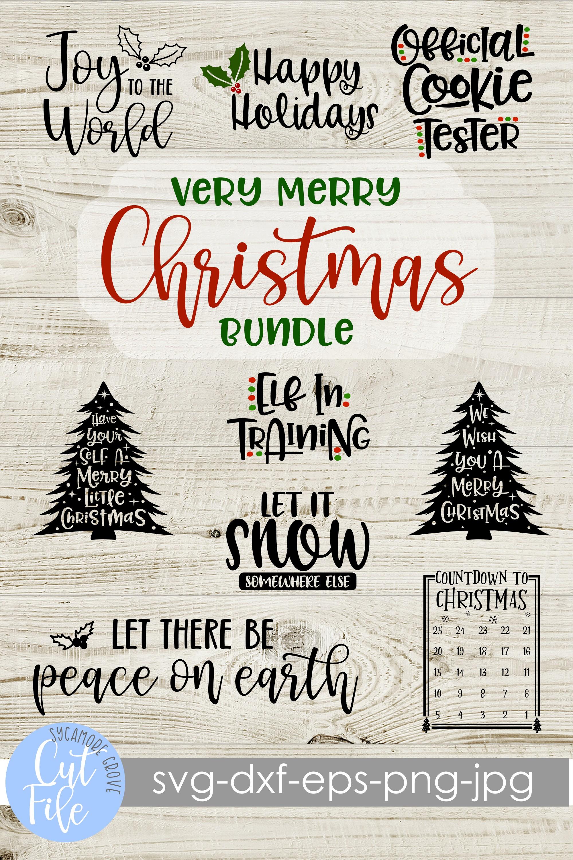 Very Merry Christmas Bundle SVG example image 11