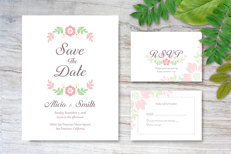 Floral Wedding Invitations example image 2