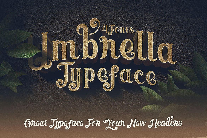 Umbrella - 4 Display Fonts example image 6