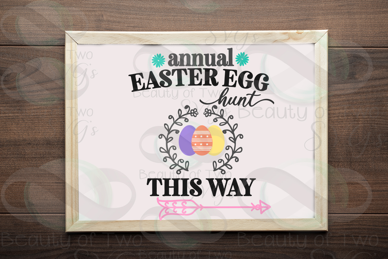 Easter Egg Hunt svg, Easter sign svg, Easter svg example image 1
