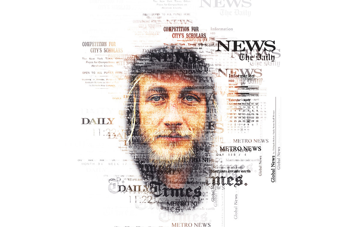 Newspaper Text Photoshop Action example image 4