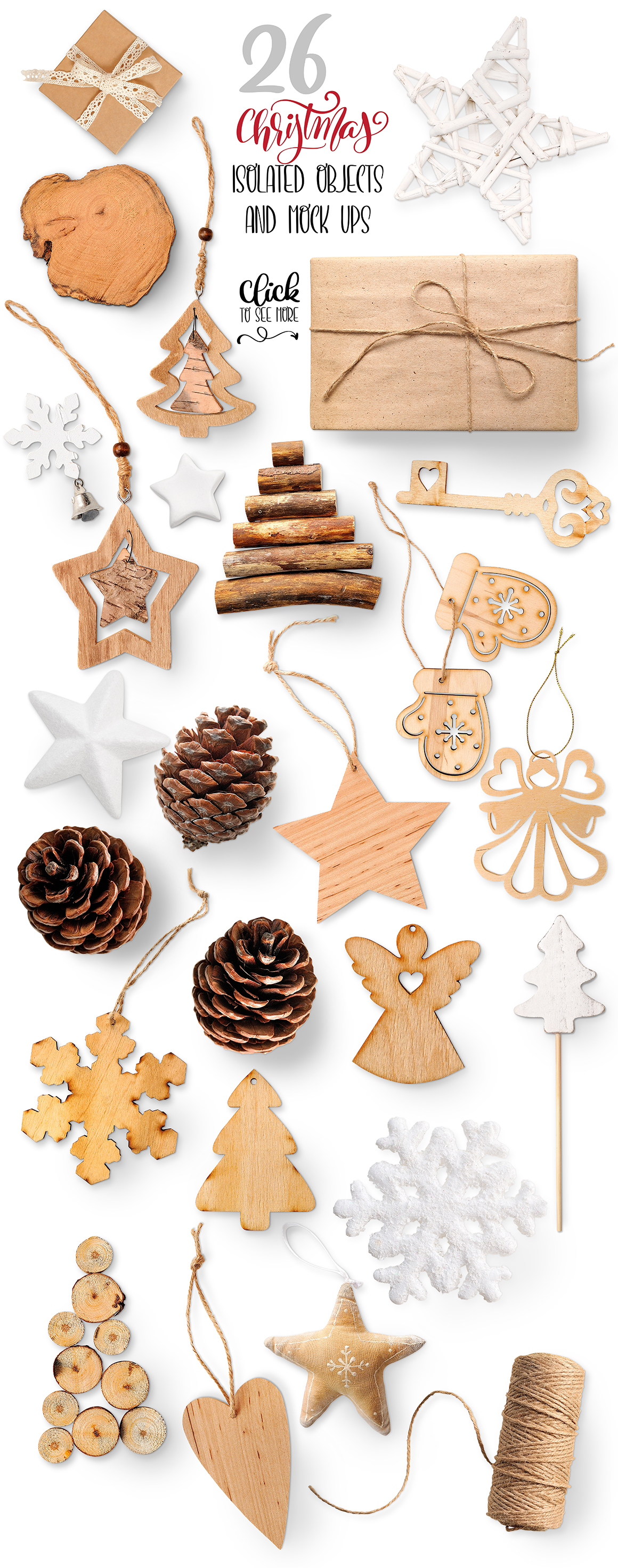 Christmas isolated objects and mock ups example image 7